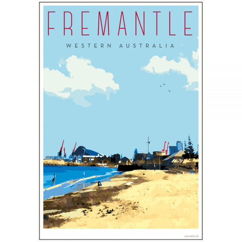 Vintage Fremantle Bather's Beach Print