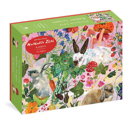 Rabbits 500-Piece Puzzle by Nathalie Lete