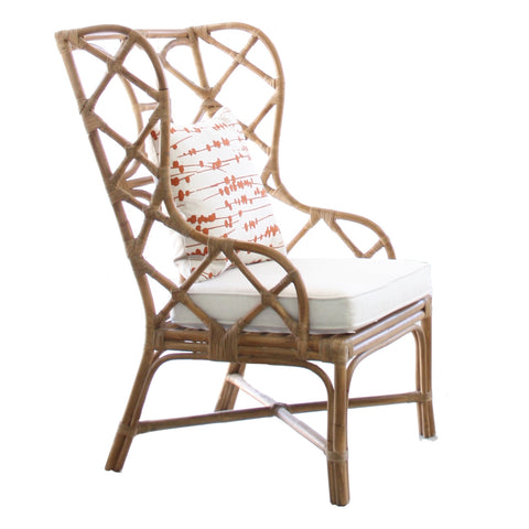 Abaca Wing Back Chair