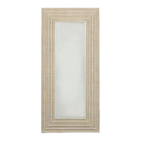 Viognier Long Mirror in Vintage Cream