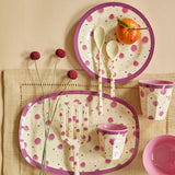 Rectangular Melamine Plate with Pink Watercolour Splash Print