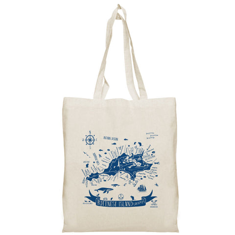 Rottnest Map Tote Bag