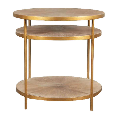 Alma Two Shelf Round Table