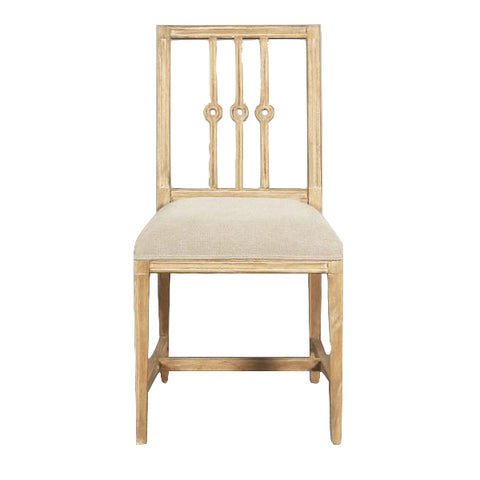 Gracie Occasional Chair Natural with Beige Upholstery
