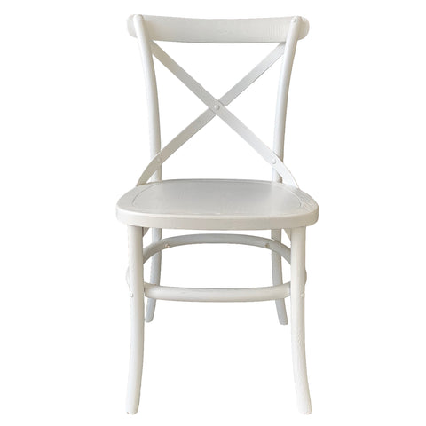 Croix Dining Chair White Finish