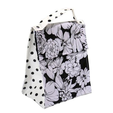 Insulated Lunchbag Wildflowers Black