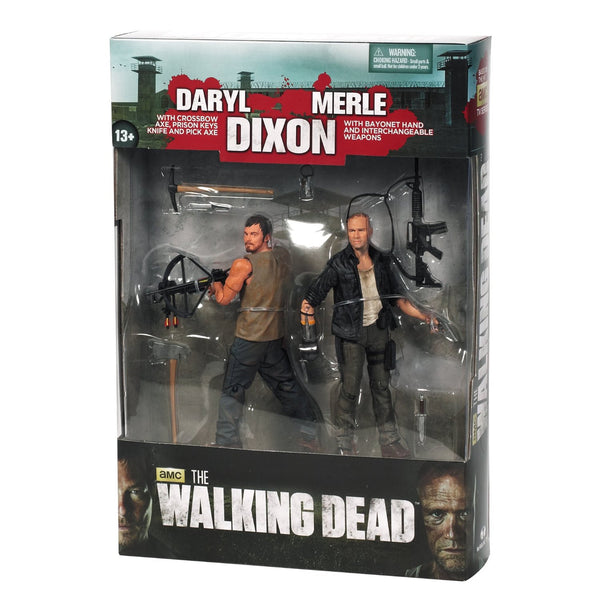 The Walking Dead Merle Amp Daryl Dixon 2 Pack Action Figure