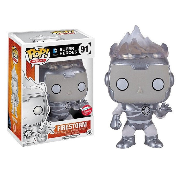2016 sdcc exclusive funko pop white lantern firestorm figure