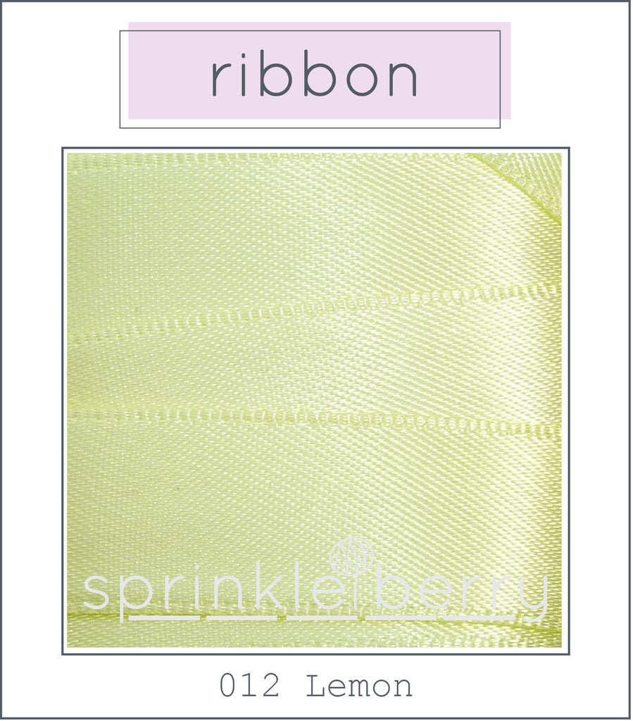DF Satin Ribbon - Lemon
