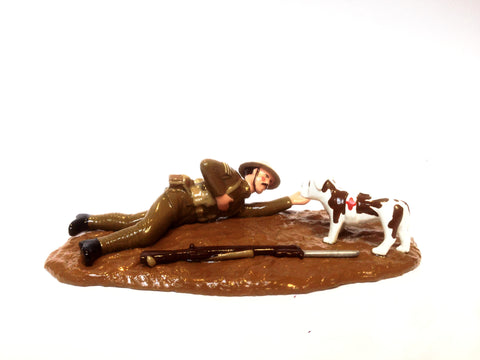 Caesar the Dog with Sergeant Figurine