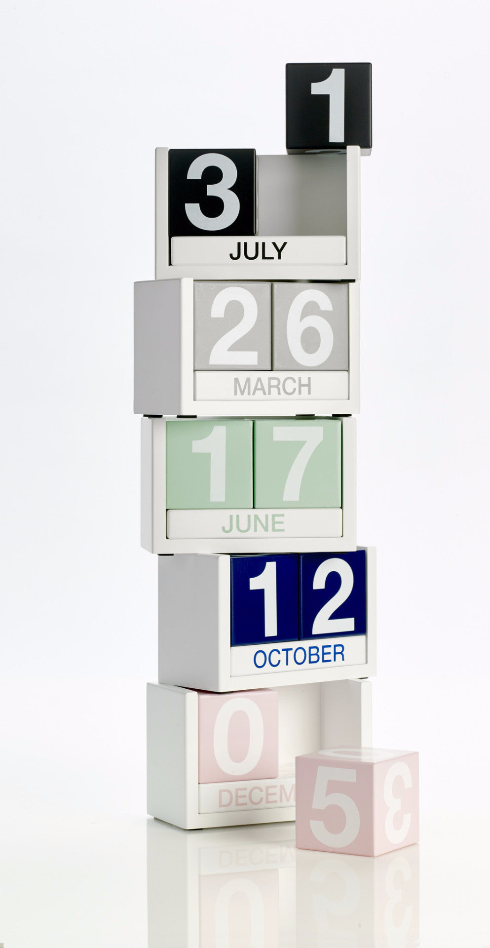 Colorful Wooden Calendar