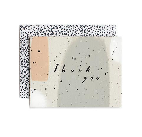 Speckled Thank You Single Greeting Card