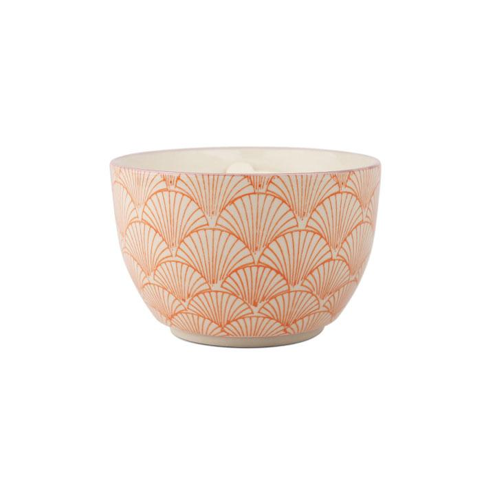 Hand Painted Candle Bowl - Pink Pepper & Pomelo 12.5oz