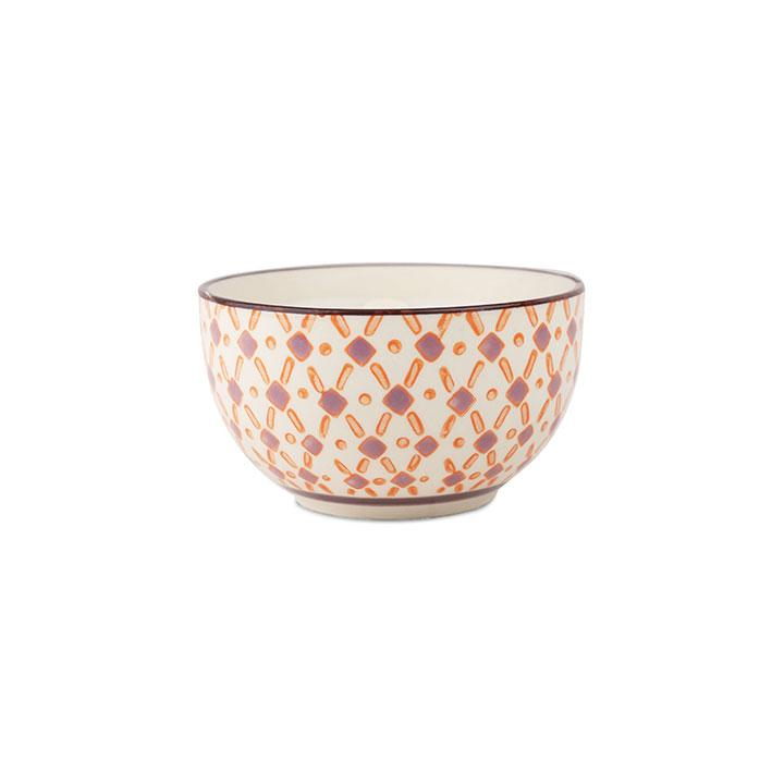Hand Painted Candle Bowl - Pink Pepper & Pomelo 7oz