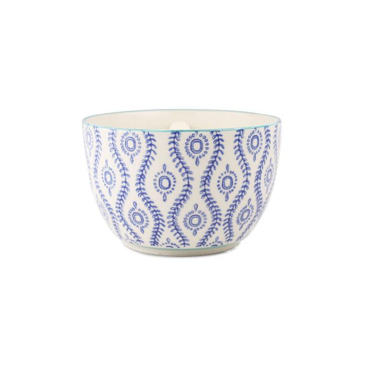 Hand Painted Candle Bowl - Vetiver & Vanilla 12.5oz