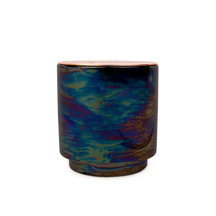 Black Iridescent Ceramic With Copper Lid - Incense & Smoke 17oz