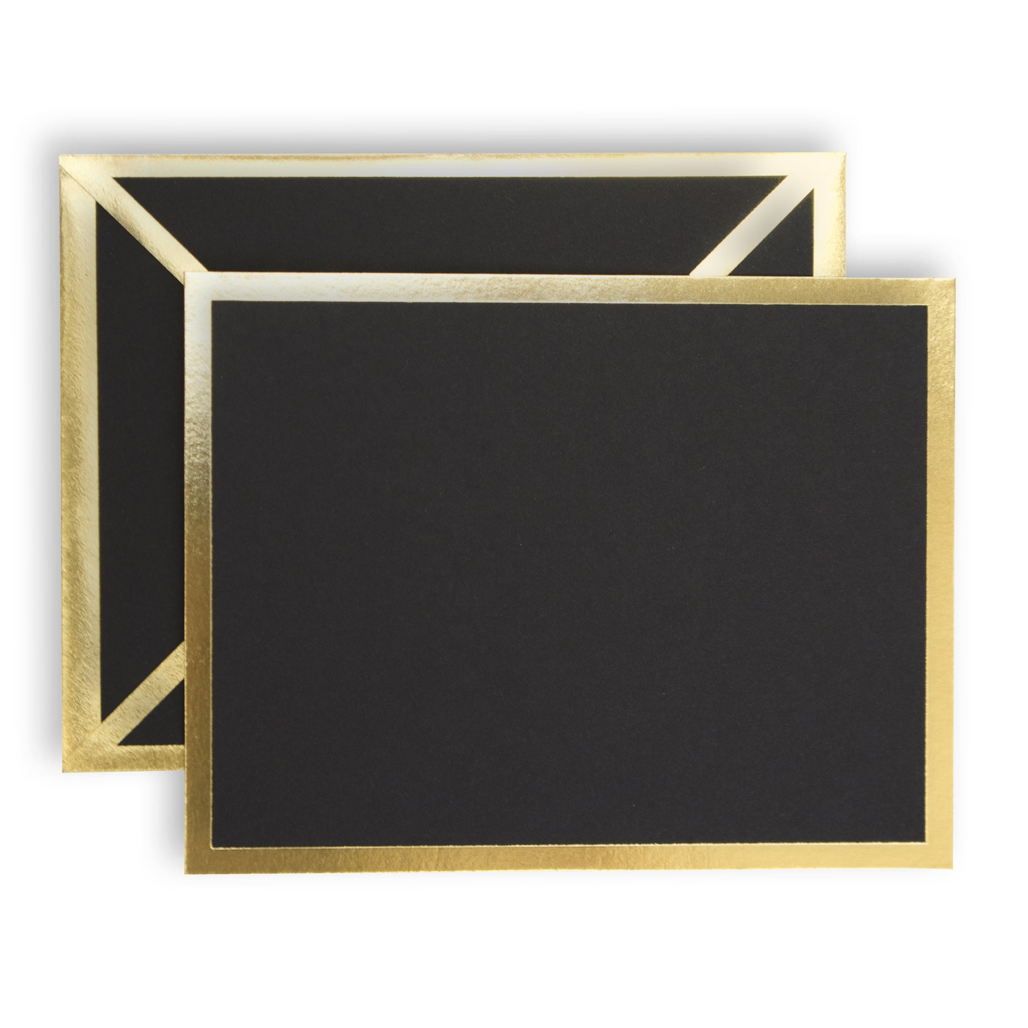 Gold & Black Single Greeting Cards