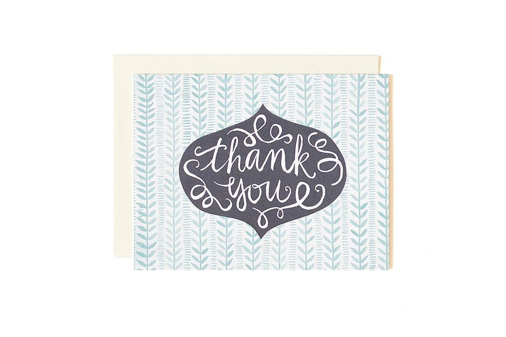 Thank You Pattern Greeting Card