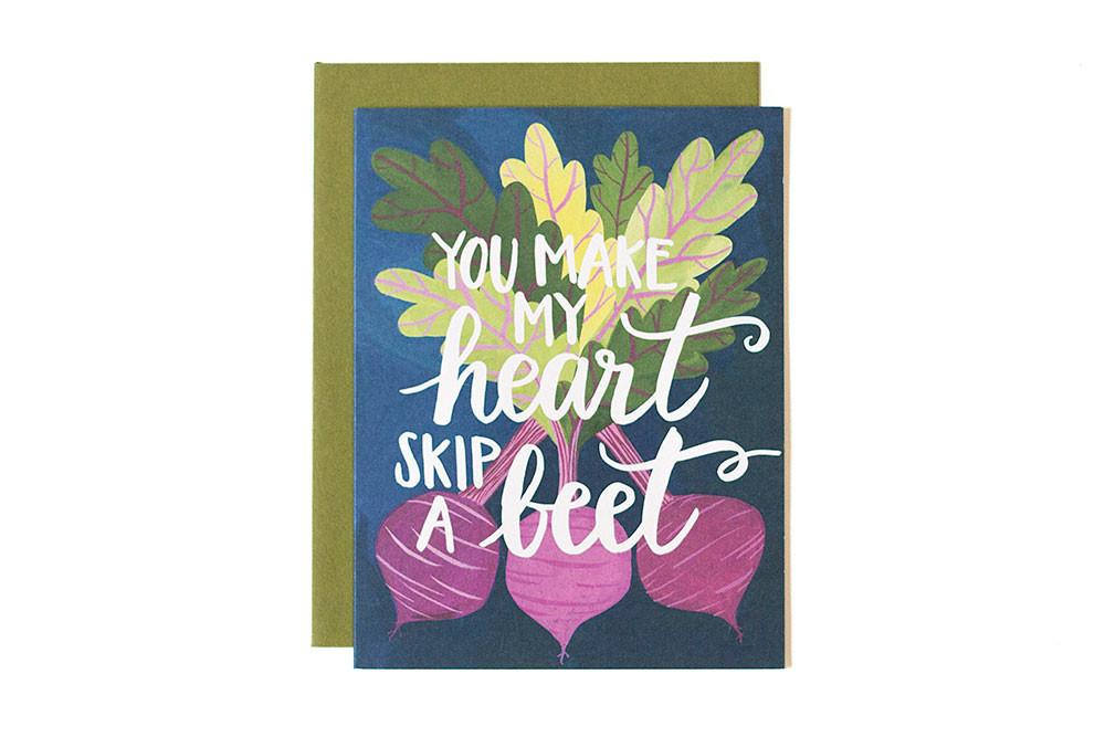 You My Heart Skip A Beet Greeting Card