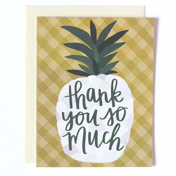 Pineapple Thank You Single Card