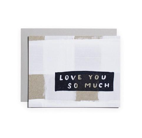 Love You So Much Single Greeting Card