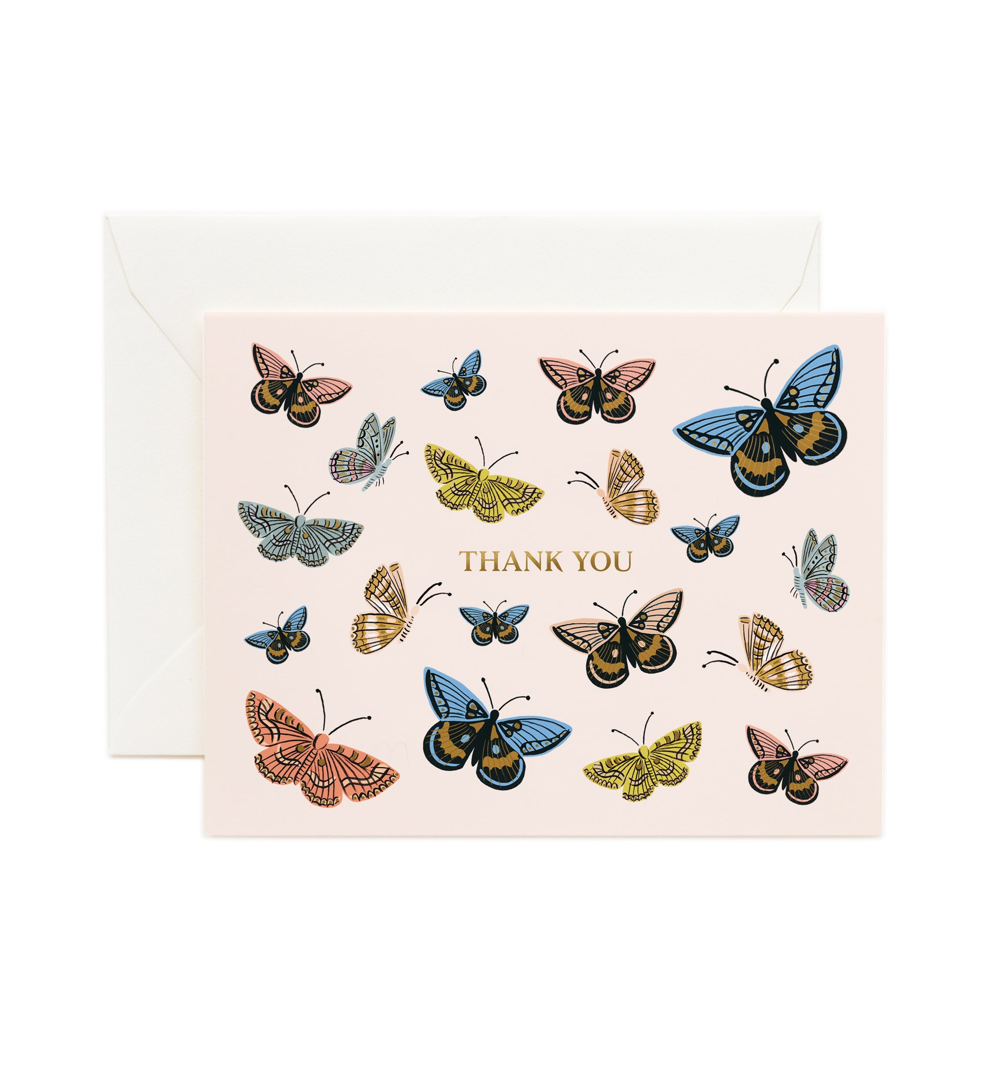 Monarch Thank You Single Greeting Card