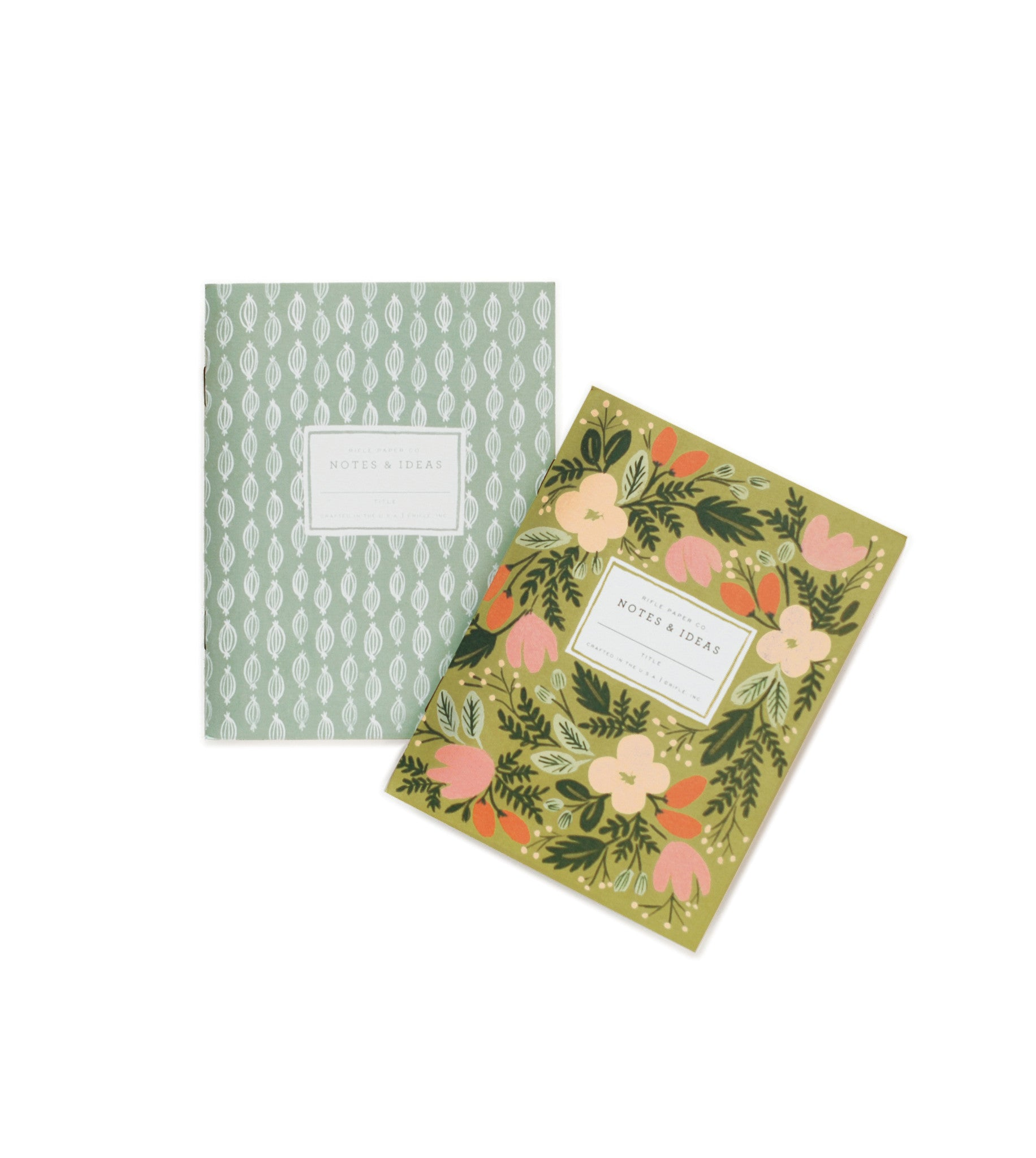 Moss Garden Pocket Notebooks Set
