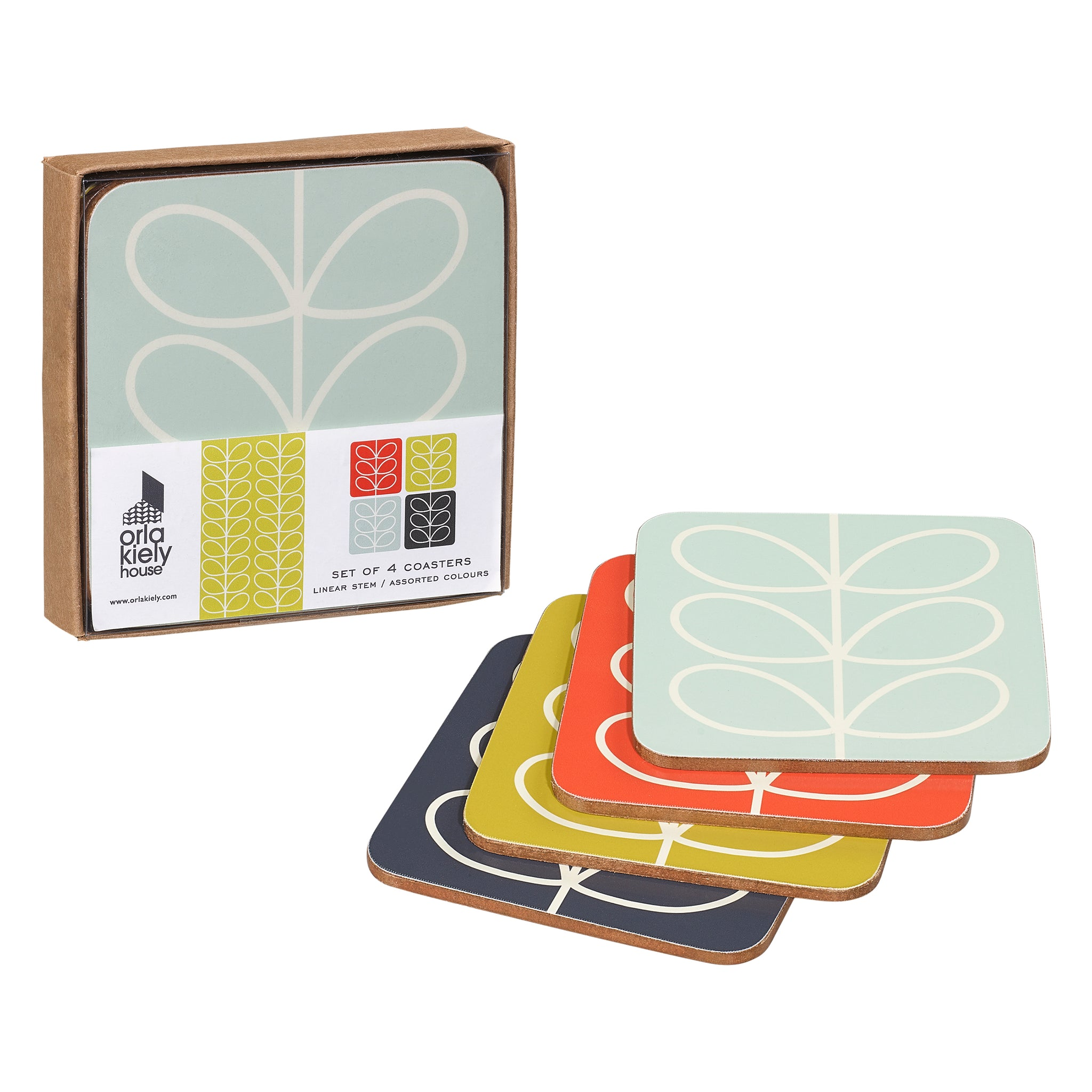Linear Stem Coasters Set of 4