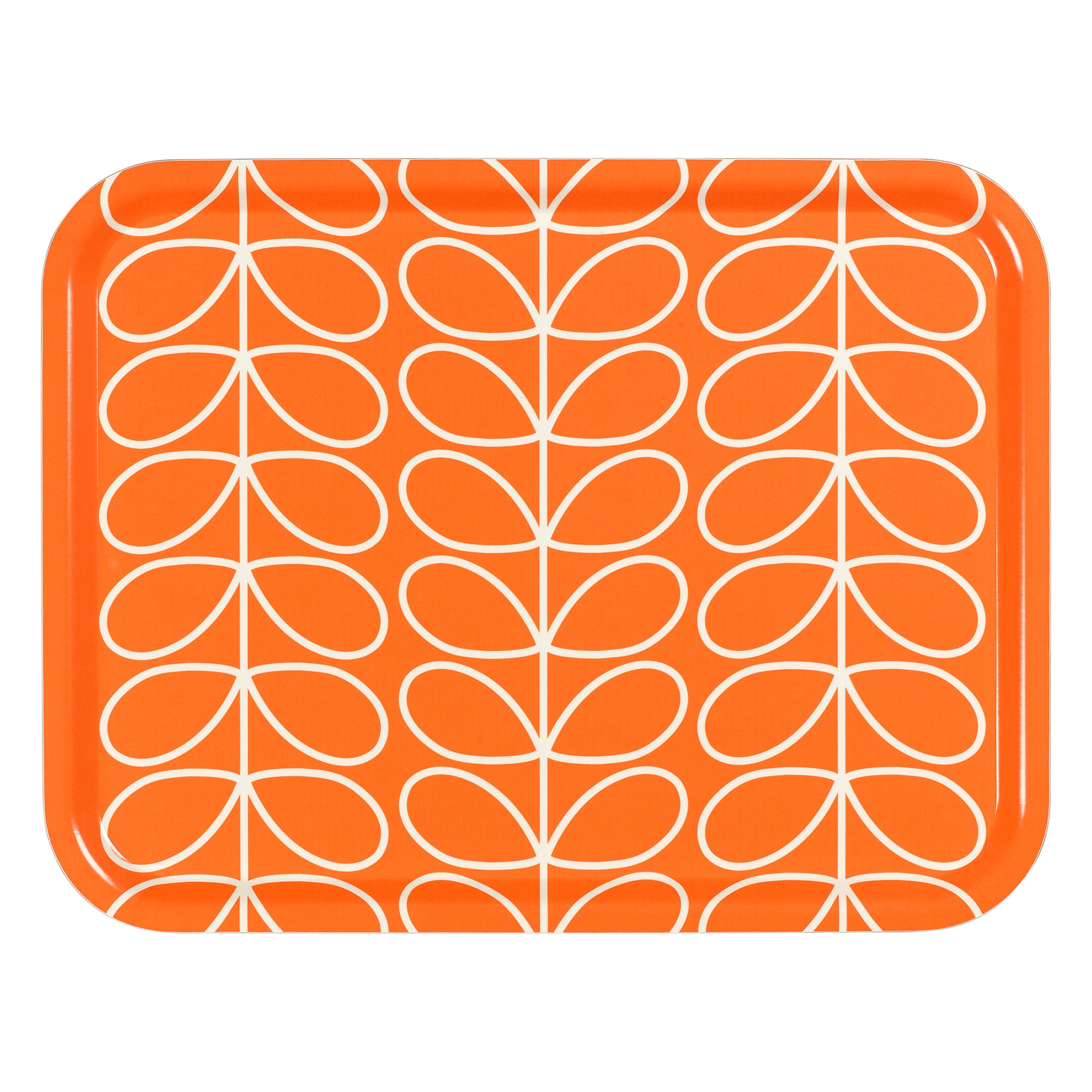 Linear Stem Orange Large Tray