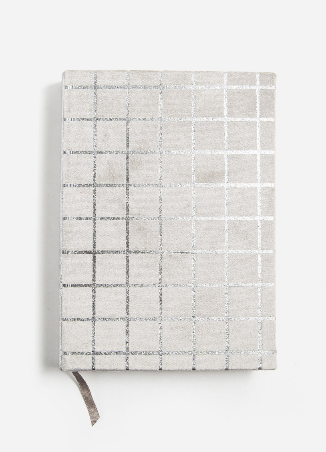 Silver Grid Medium Velvet Journal