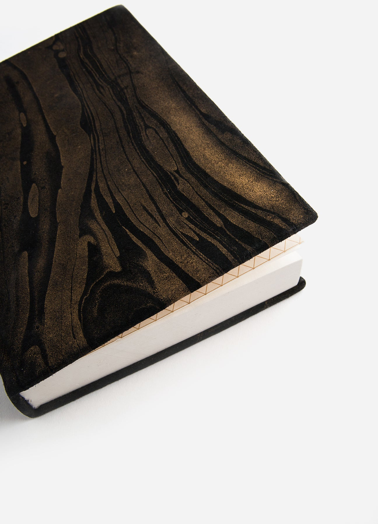 Black Suede Medium Journal