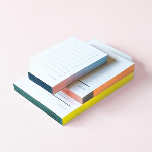 Color Block Medium Notepad - A