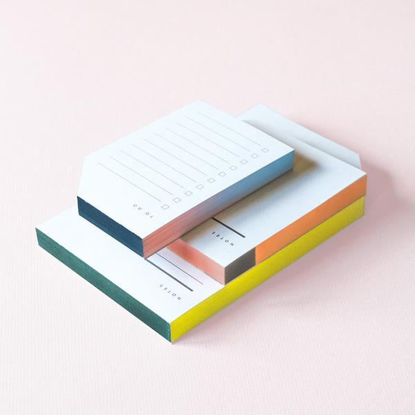 Color Block Large Notepad - A