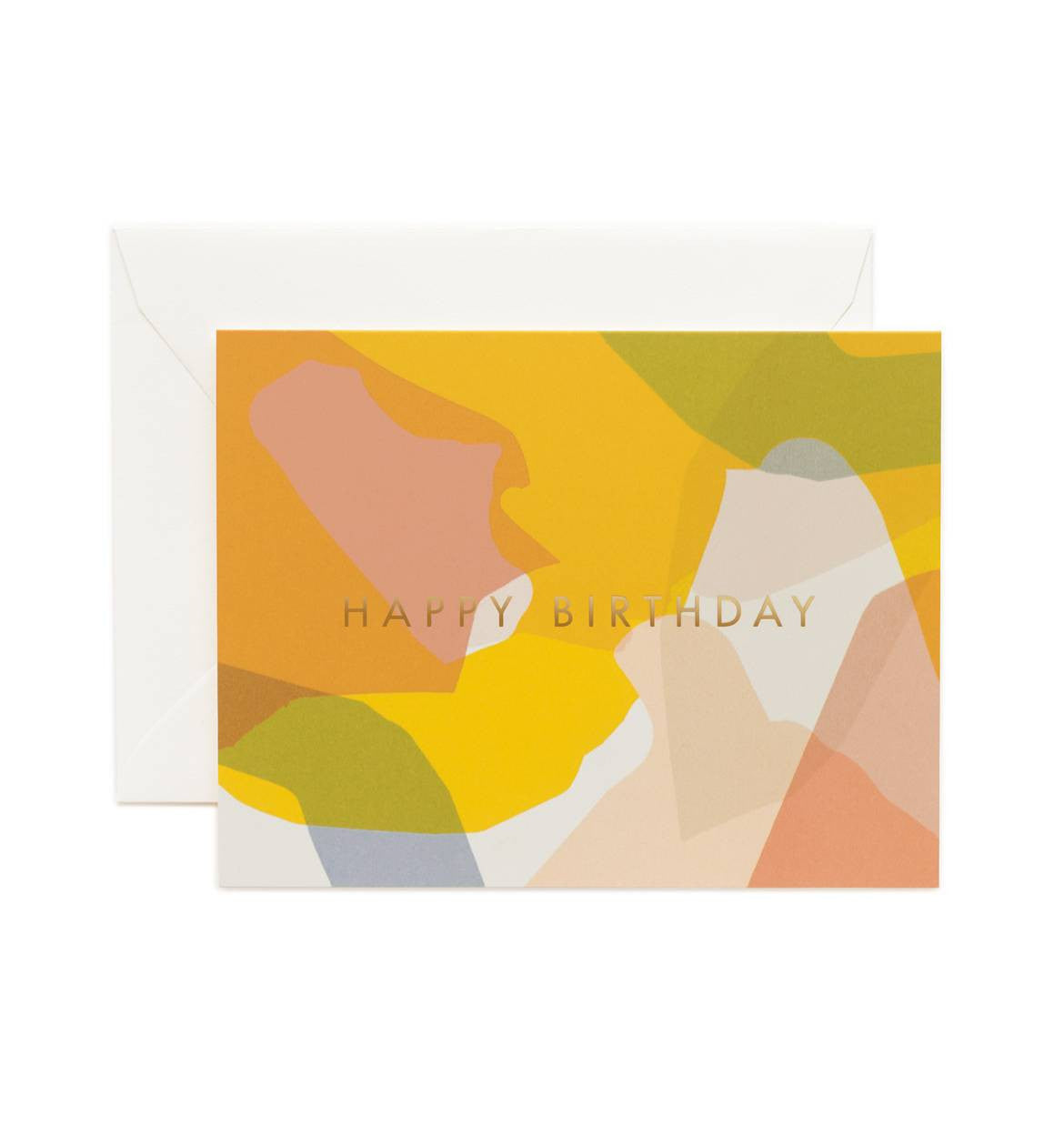 Modern Birthday Single Greeting Card