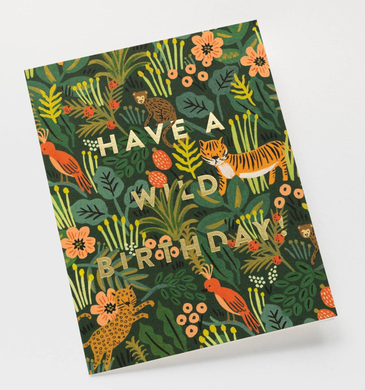 Wild Birthday Single Greeting Card