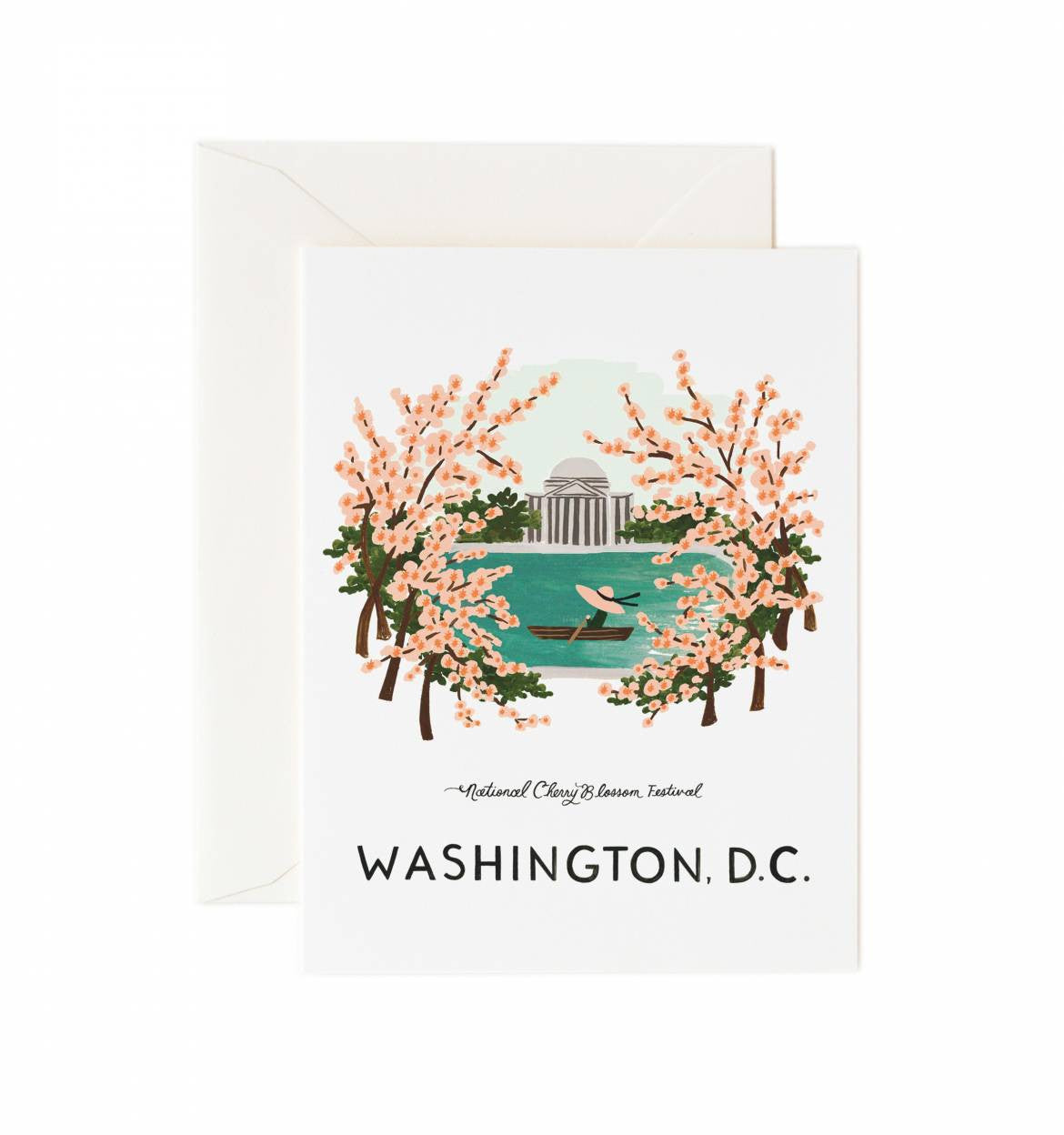 Washington D.C. Single Greeting Card