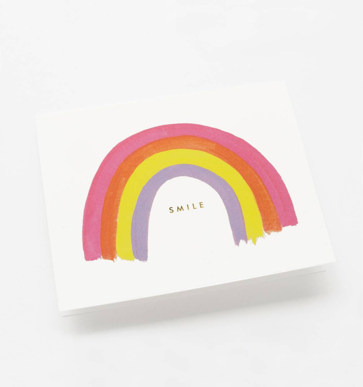 Smile Rainbow Single Greeting Card