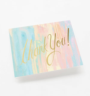 Thank You Watercolor Single Greeting Card