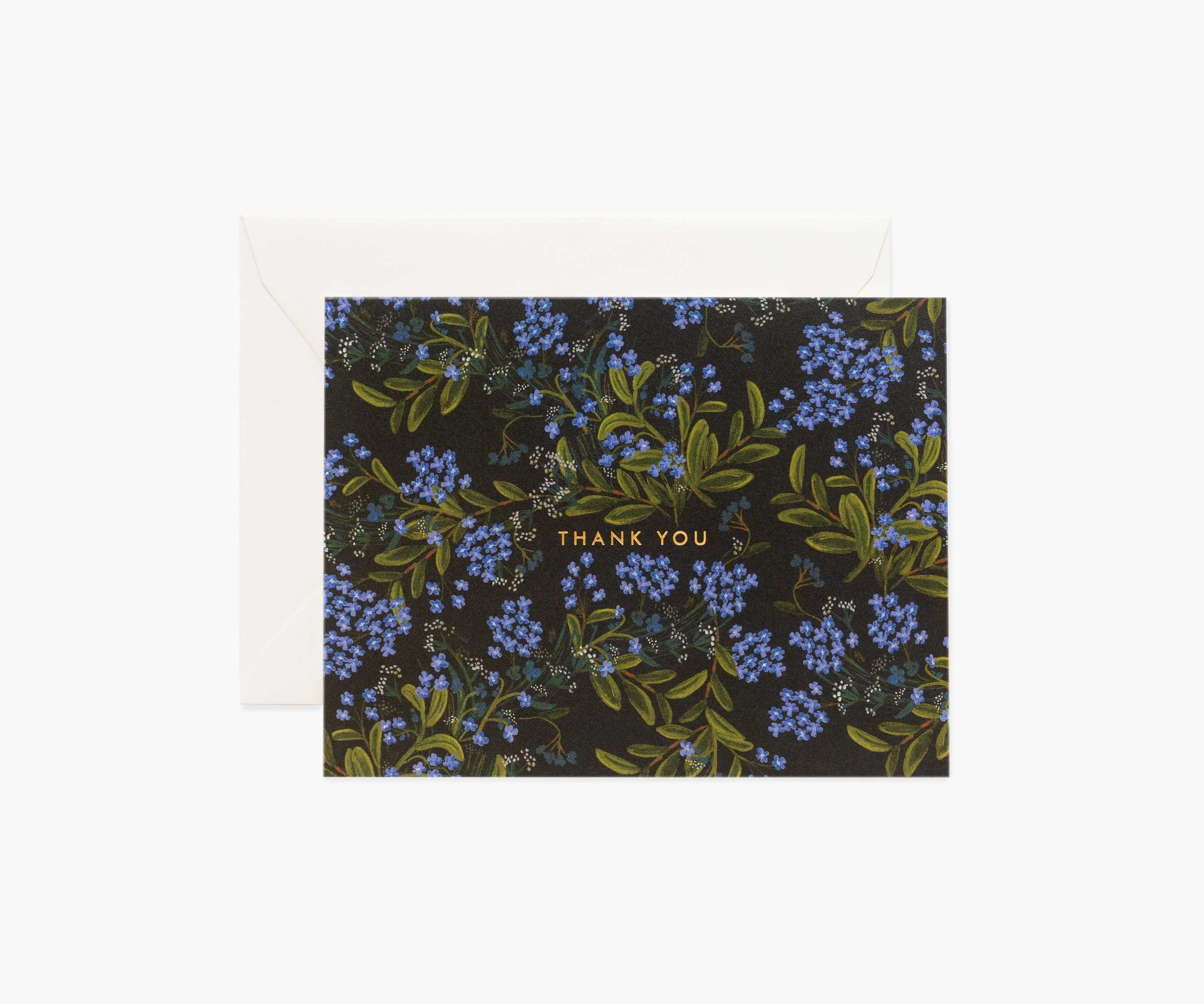 Cornflower Thank You Single Greeting Card
