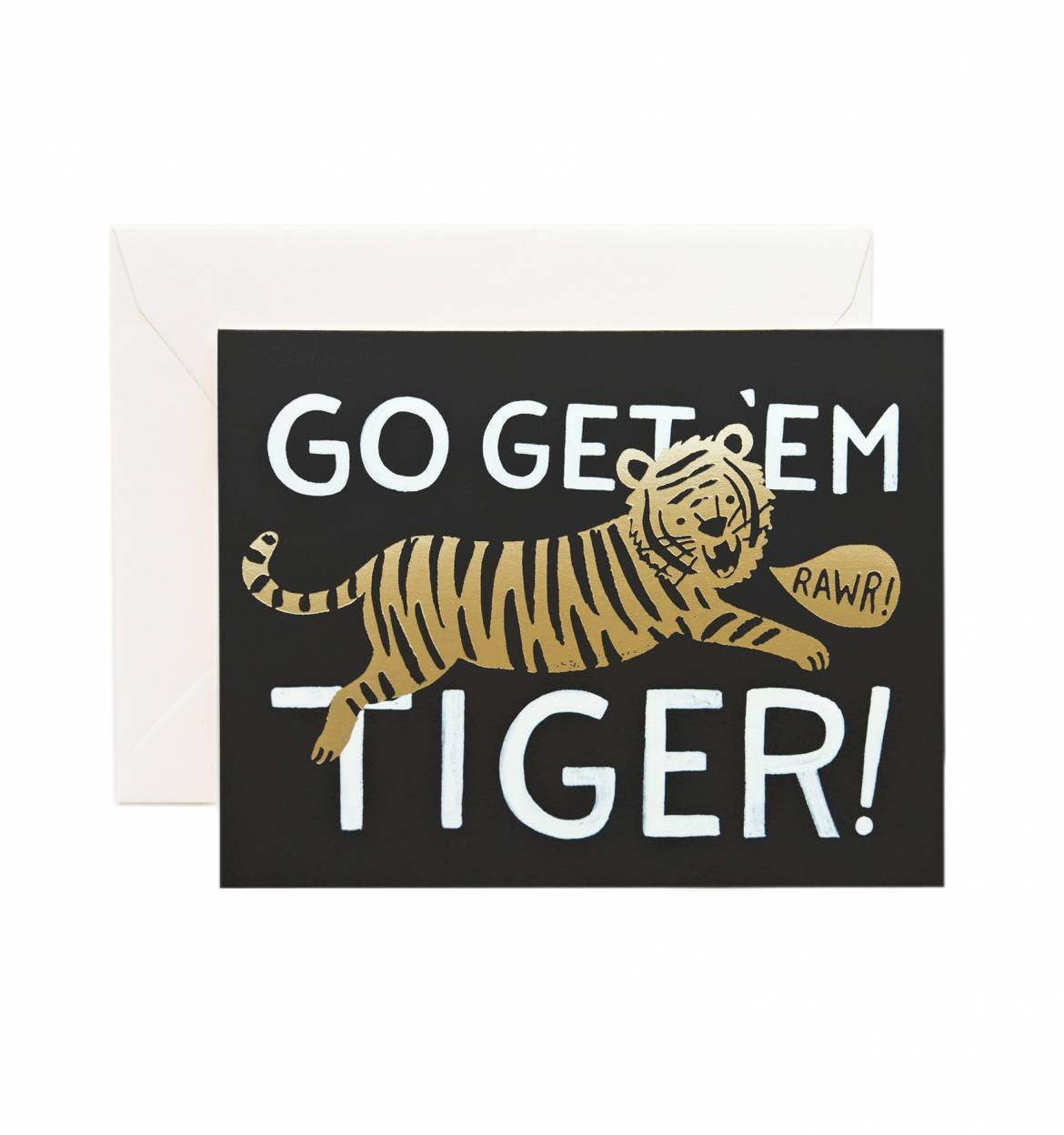 Go Get 'Em Tiger Single Greeting Card