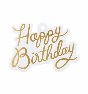 Happy Birthday Die-Cut Gift Tags