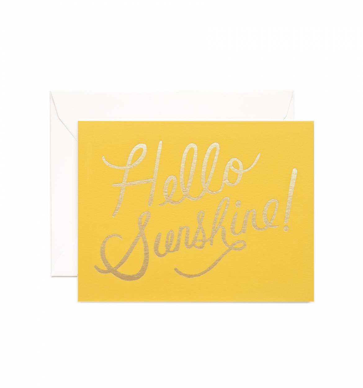 Hello Sunshine Single Greeting Card
