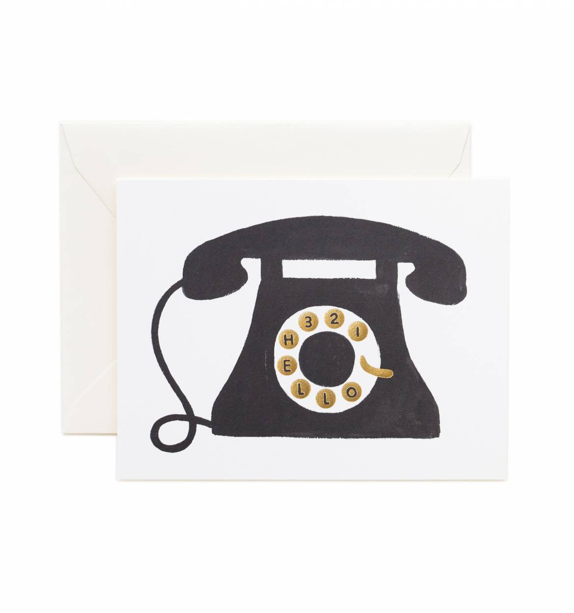 Hello! Telephone Single Greeting Card