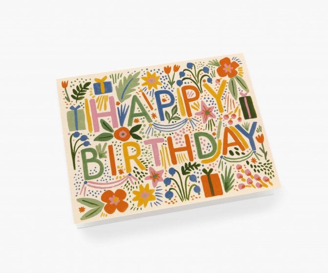 Fiesta Birthday Single Greeting Card