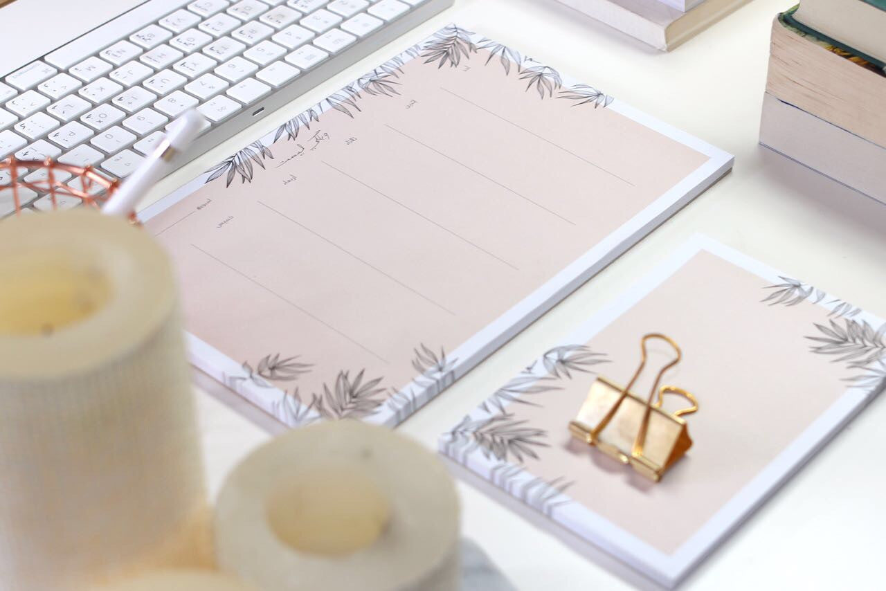 ektb Weekly Desk Pad