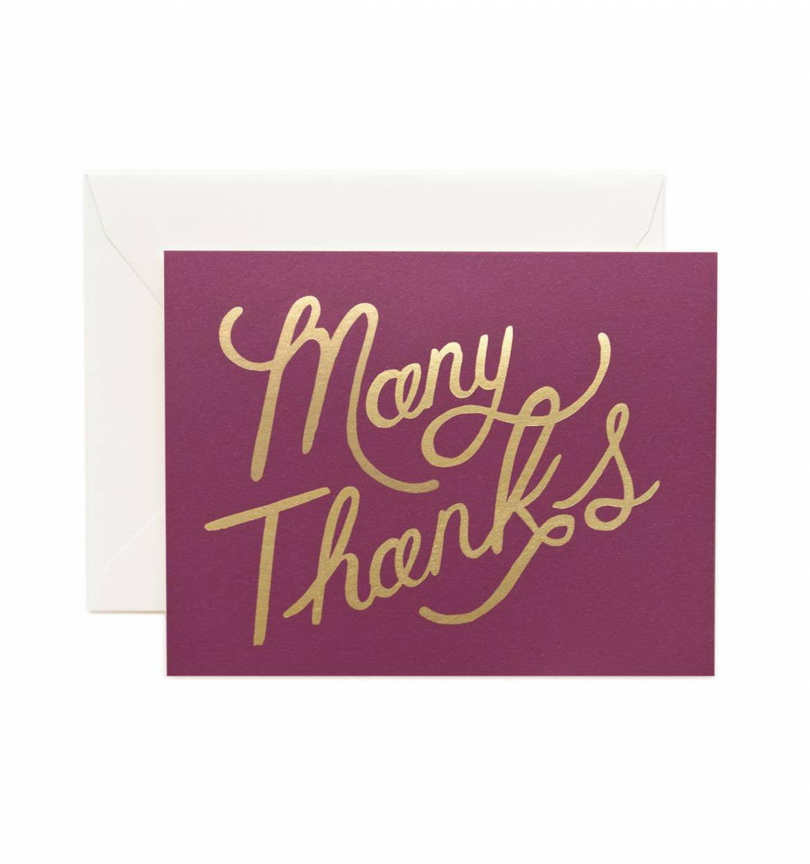 Burgundy Foil Single Greeting Card