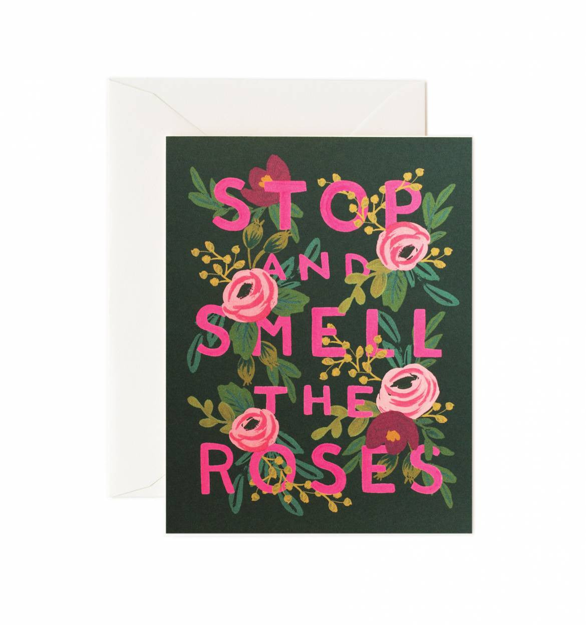 Stop and Smell the Roses Single Greeting Card