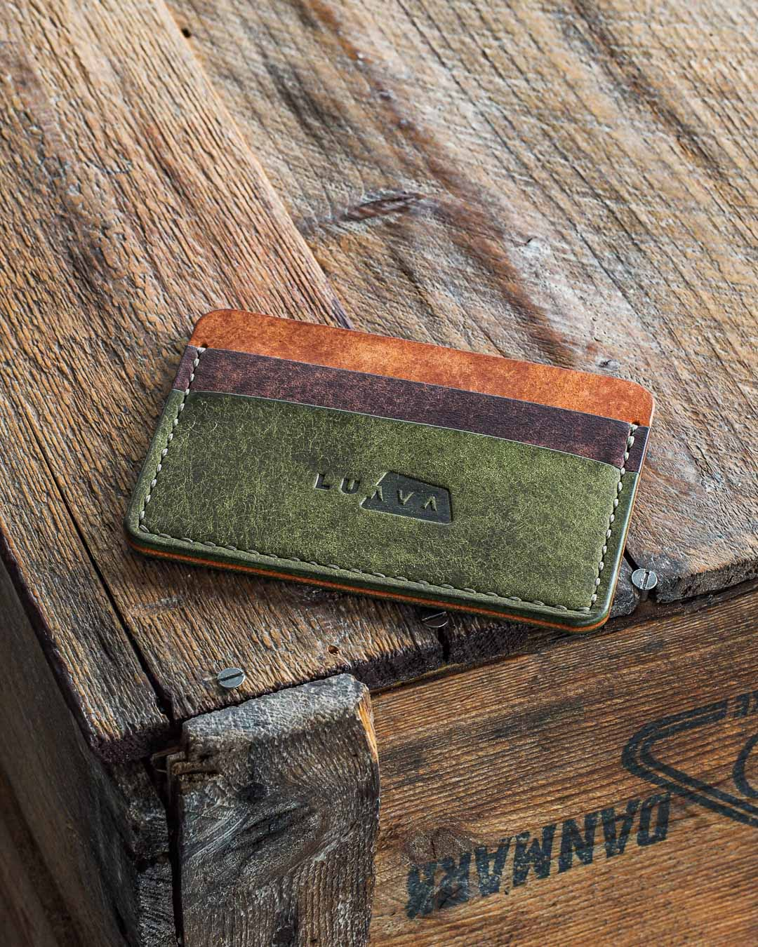 Luava handmade leather wallet handcrafted in Finland made to last a lifetime. Card holder made with veg tan leather