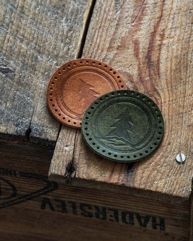 Luava handmade leather labels for beanies handcrafted leather products with your logo