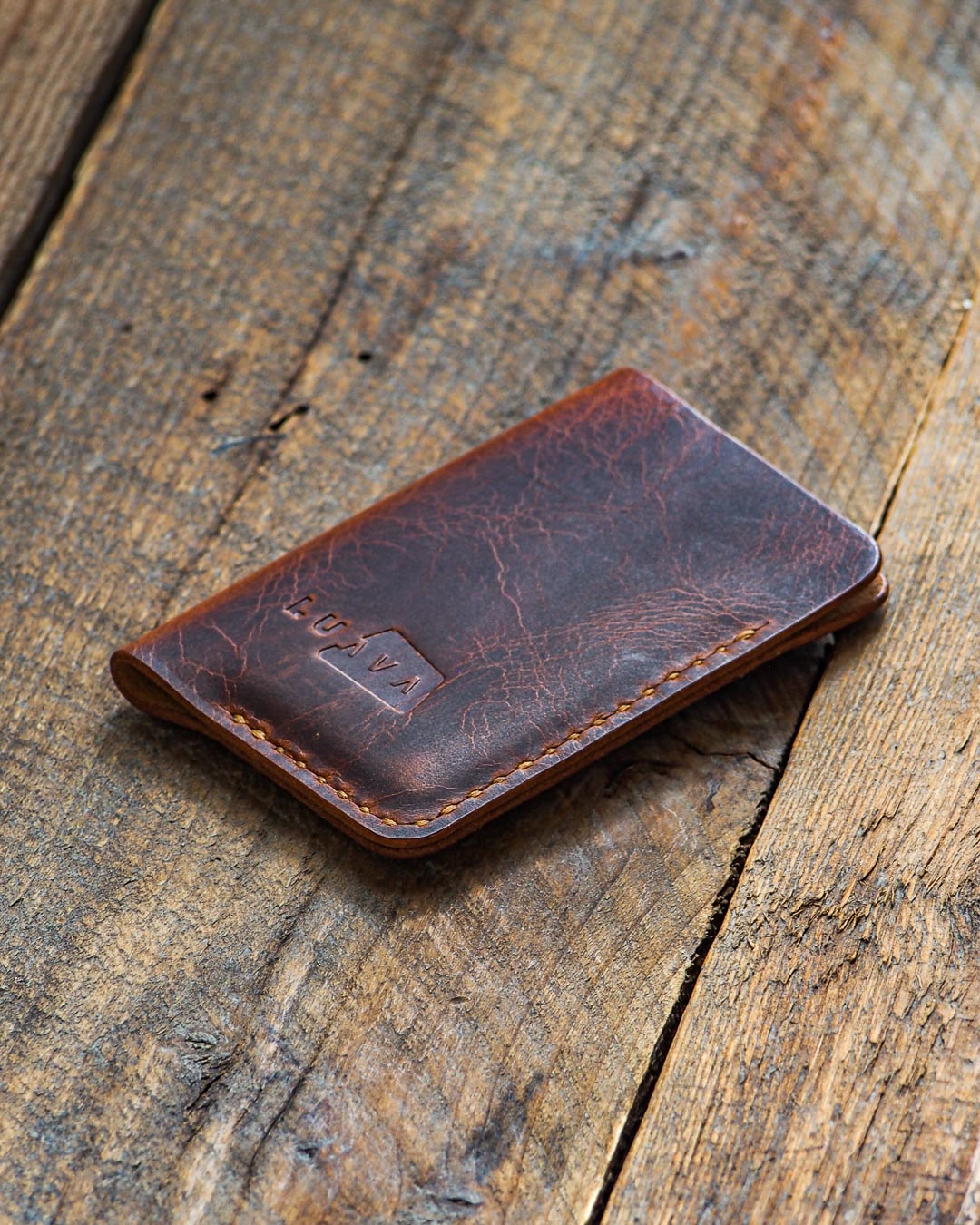 My first wallet design and still one of my all time favorites as it's practical, small, convenient and simple. It's made out of vegetable tanned leather and is a good match for a true minimalist.
